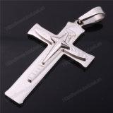 Kruis van de Juwelen van het Roestvrij staal van de Mensen van de manier het Godsdienstige Dwars, Katholieke (iO-St00L)