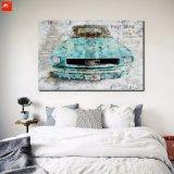 Impresión antigua de la pintura del arte de la pared del coche en lona