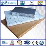 Panneau en aluminium de nid d'abeilles de matériau de construction