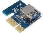 montante psto 6-Pin 1X de PCI-E PCI Express ao cartão do adaptador do USB 3.0 de 16X PCI-E com cabo de extensão do USB