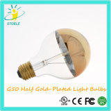Lampada incandescente Glod-Placcata lampadina mezza di Stoele G50 7W LED