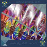 Collants véritables d'hologramme de joint de garantie de couleur d'arc-en-ciel fait sur commande
