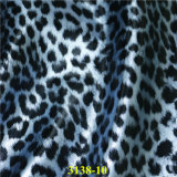 Couro sintético do plutônio da grão do leopardo da forma para sapatas e sacos