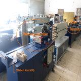 Mecánico metal corrugado manguera de gas que hace la máquina