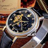 Manera exacta análoga-digital impermeable del asunto del reloj del cuarzo de los hombres