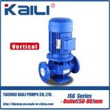 Bomba de água centrífuga de tubagem vertical série ISG (saída100-150mm)