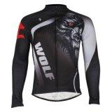 Zr куртки Джерси велосипеда серого Breathable длиннего способа зимы втулок термально задействуя