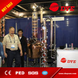 De industriële Rode Kolom van de Distillatie van de Fluit van de Alcohol van het Glas van het Koper