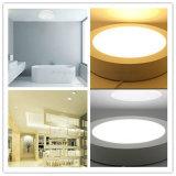 Le ce RoHS a reconnu le panneau à la maison rond blanc pur en aluminium de coulage sous pression d'éclairage LED de support de surface d'éclairage de la lampe 18W de plafond