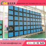 Полный экран дисплея цвета P4/P4.81/P5/P5.95/P6/P6.25/P8/10/P16/P20 напольный СИД