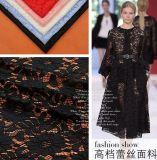Vestito dal Knit della maglia del tessuto del merletto di stirata, tessuto del commercio all'ingrosso del testo fisso del merletto