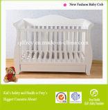 赤ん坊のまぐさ桶のための固体マツ木白いベビーベッド