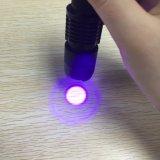 mini fluorescencia LED violeta del detector del jade del dinero de 395nm 365nm que enciende la linterna ULTRAVIOLETA