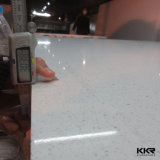 Белый сляб камня кварца зеркала 2cm Polished