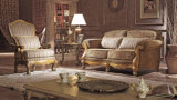 標準的で旧式なファブリックソファーの居間のための一定のソファ愛シートの椅子そしてコーヒーテーブル