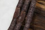 """Наградные человеческие волосы 100% качества реальное Remy Зажим-в цвет выдвижениях 20 волос """": Brown, комплект 10PCS"""