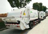 Dongfeng 6の車輪125HPの屑は7トンのトラックをごみ収集車コンパクターの集める