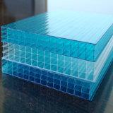 Folha UV da cavidade do policarbonato de Multiwall da proteção/folha de parede plástica da folha quatro