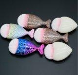 유일한 통통한 물고기 기초 솔은 주문 레이블 인어 메이크업 솔 세트 반짝임 적면한다
