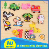 Promocional Custom Wholesale Fashion Embossed 3D Rubber / Soft PVC Fridge Magnet