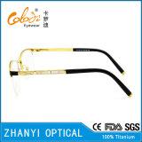 Aucun bâti optique plus défunts de modèle de MOQ de lunetterie en verre titaniques de monocle (T8301)