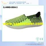 Leuchtende beiläufige gestrickte obere Schuhe der Mann-Frauen-LED mit LED-Licht