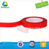 cinta de acrílico transparente de la espuma de Vhb del trazador de líneas de la película del rojo de 0.5m m (BY3050C)