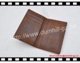 Верхний держатель кредитной карточки неподдельной кожи подгонянный с шальной кожей лошади