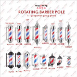 Barber Pole Stripes Rotating Metal Hair Salon Tienda