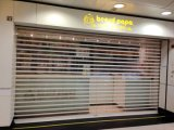 Manufature PC Roller Shutter Door Porte-rouleau en cristal Polycarbonate Transparent Roll-up Curtain