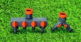 Adattatore del colpetto del connettore del colpetto di acqua dell'ABS dei montaggi di tubo flessibile del giardino 4-Way