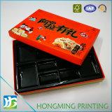 Cadre de papier gravant en relief de carton de nourriture de logo avec la garniture intérieure