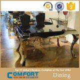 Conjunto de mesa de jantar de mármore moderno de 8 lugares Assentos de jantar Aço