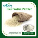 Pó natural 80% da proteína do arroz com a amostra disponível