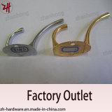 Крюки кота вешалки одежд двойника конструкции сплава цинка красивейшие (ZH-2013)