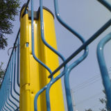Dreieck-verbiegender Zaun mit drei Schlaufen