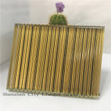 glace en verre Tempered de verre feuilleté de miroir de 10mm+Colorful Silk+5mm/sûreté/art pour la décoration