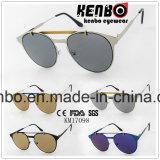 Duas cores de Eyebar projetam inteiramente os óculos de sol elegantes Km17098 do metal
