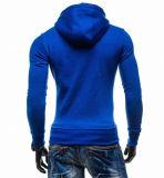 Куртка пригонки Mens тонкая Outwear фуфайка свитера теплая с капюшоном (A554)