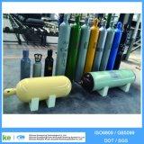 이음새가 없는 강철 산소 수소 아르곤 헬륨 이산화탄소 가스통 (ISO9809 /GB5099)
