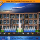 El anuncio publicitario celebra la fuente al aire libre de la música de la piscina