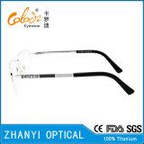 Aucun bâti optique plus défunts de modèle de MOQ de lunetterie en verre titaniques de monocle (T8302)