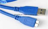 USB3.0 un varón al cable micro USB3.0 10pin