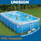 Geteerde zeildoek het van uitstekende kwaliteit van pvc voor Zwembad