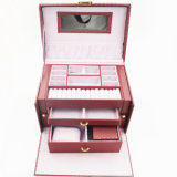 Caja de almacenaje de encargo de la joyería de la manera al por mayor (J01-F)