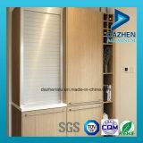 La venta directa de aluminio Perfil de aluminio para el rodillo del gabinete de cocina puerta del obturador
