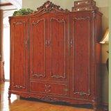 غرفة نوم سرير وخزانة ثوب لأنّ كلاسيكيّة غرفة نوم أثاث لازم مجموعة
