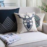 Decorazione di tela del cuscino del cotone lussuoso per la camera da letto