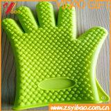 Cuisine faisant cuire les gants anti-caloriques de BBQ de silicones de four