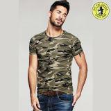 Le plus défunt gilet 100% d'été de coton de modèle pour le T-shirt rond de chemise de circuit de collet d'illustrations des hommes